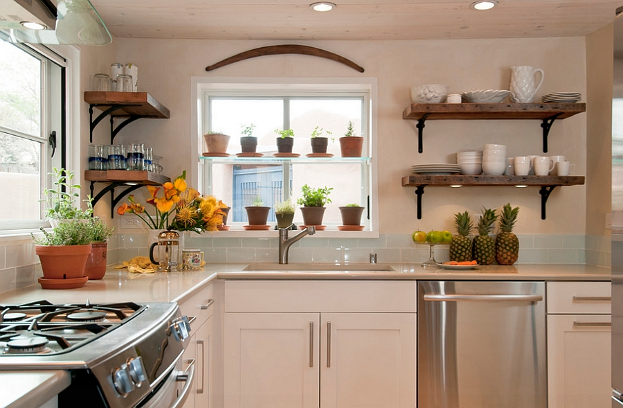 ... Kitchens] View In Gallery Symmetric And Elegant Use Of Floating Shelves  [Design: Jennifer Ashton Interiors]
