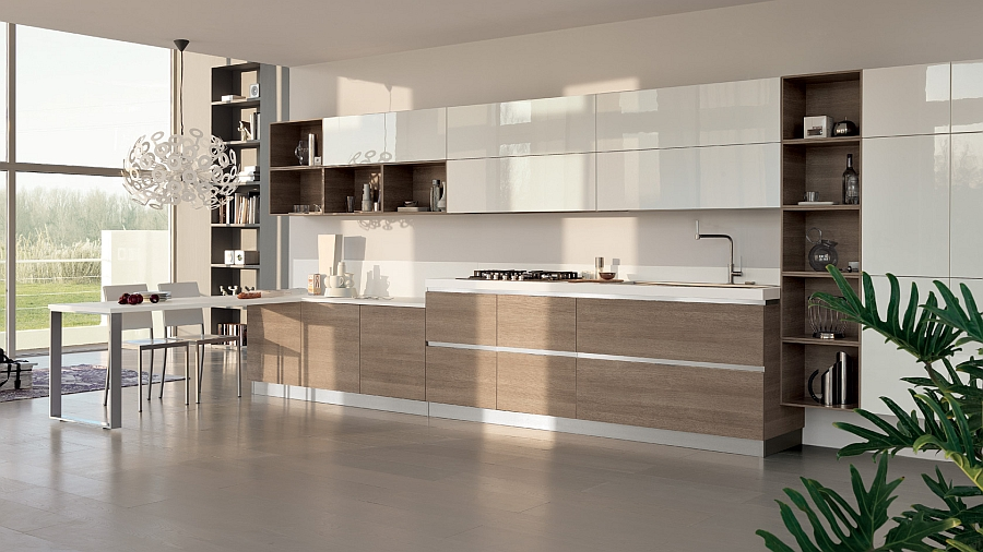 Tasteful contemporary kitchen Mood from Scavolini with adaptable design units