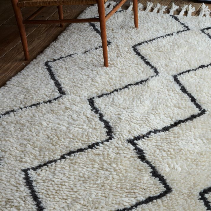 Textured wool rug from West Elm