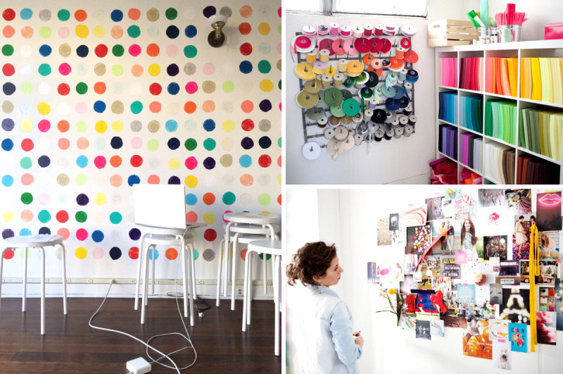 The studio space of Oh Happy Day
