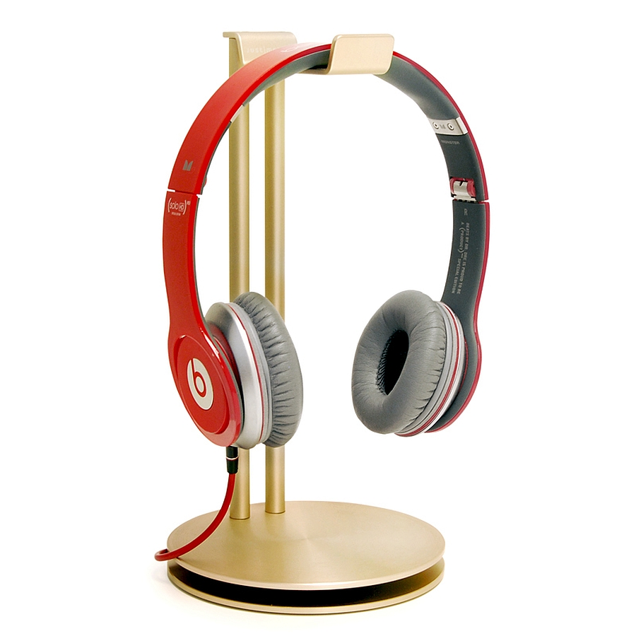 Trendy HeadStand headphone hanger in fashionable Gold