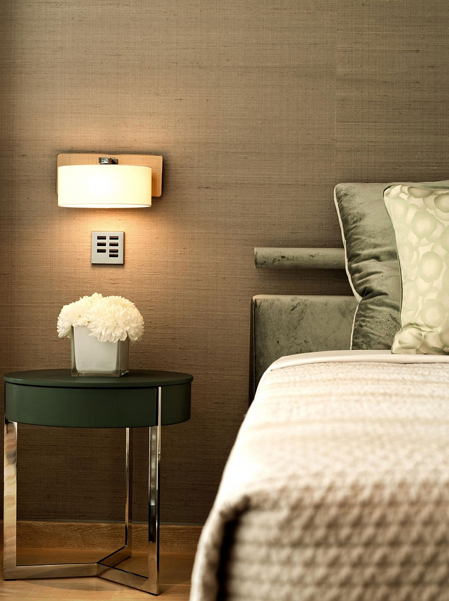 Trendy bedside table with a sleek and sophistcated silhoutte