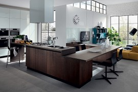 Trendy Contemporary Compositions Unite The Living Room With The Kitchen!