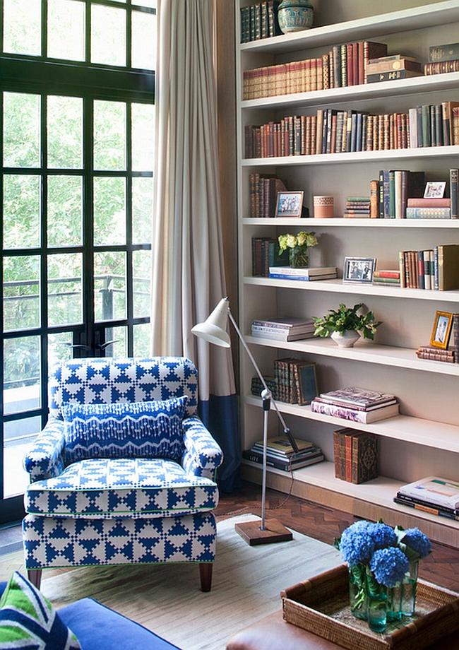 Reading Room Design Ideas: Turn The Living Room Corner Into A Simple Reading Nook