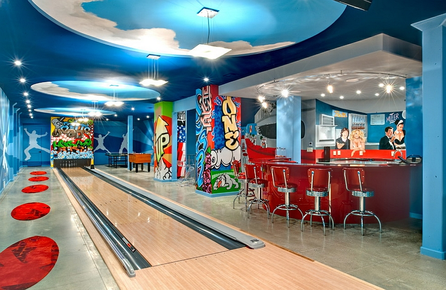 bowling alley interior images