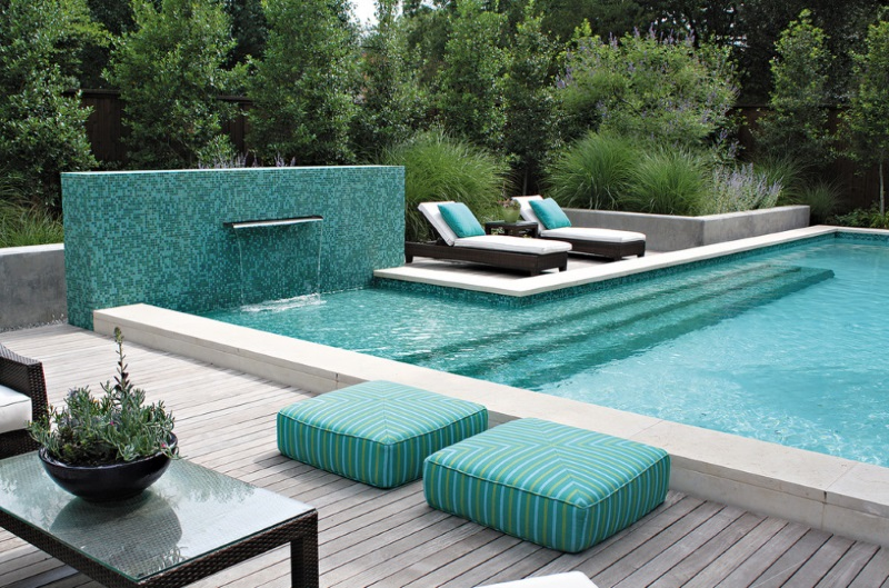 Turquoise and green outdoor space