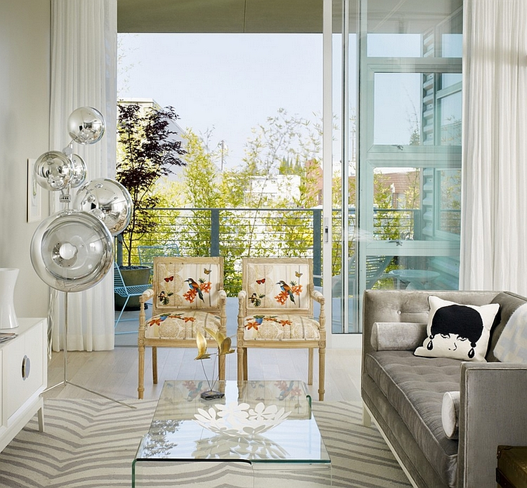 ... Twin chairs give the room a distinct feminine appeal [Design:  Incorporated]