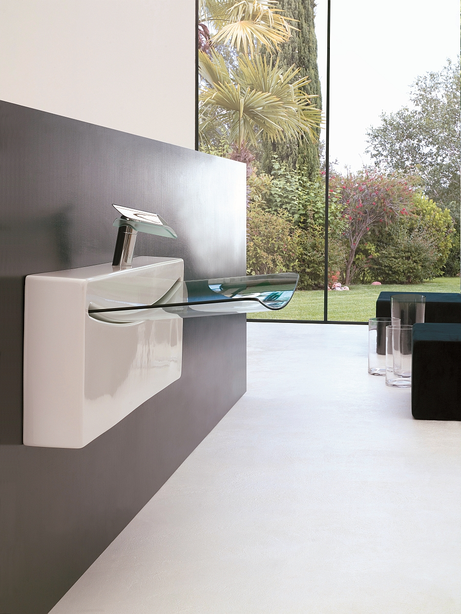 View In Gallery Ultrasleek Washbasin For The Minimal Bathroom