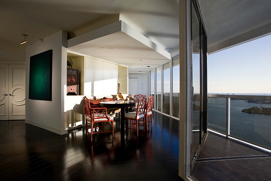Unique dining room with amazing view outside! [Photography: Craig Denis]