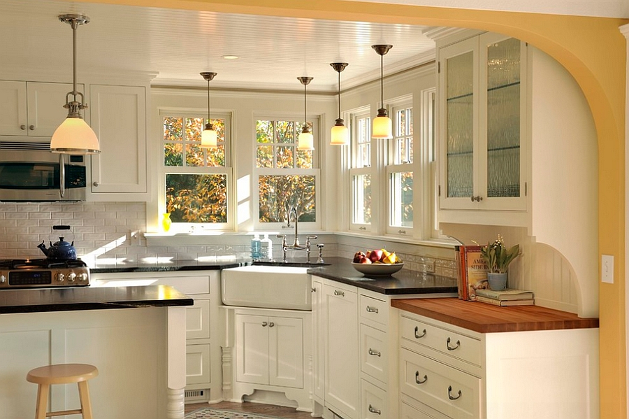 Kitchen Sink Corner : sink [Design: Lake Country Builders] Corner sink in the kitchen ...
