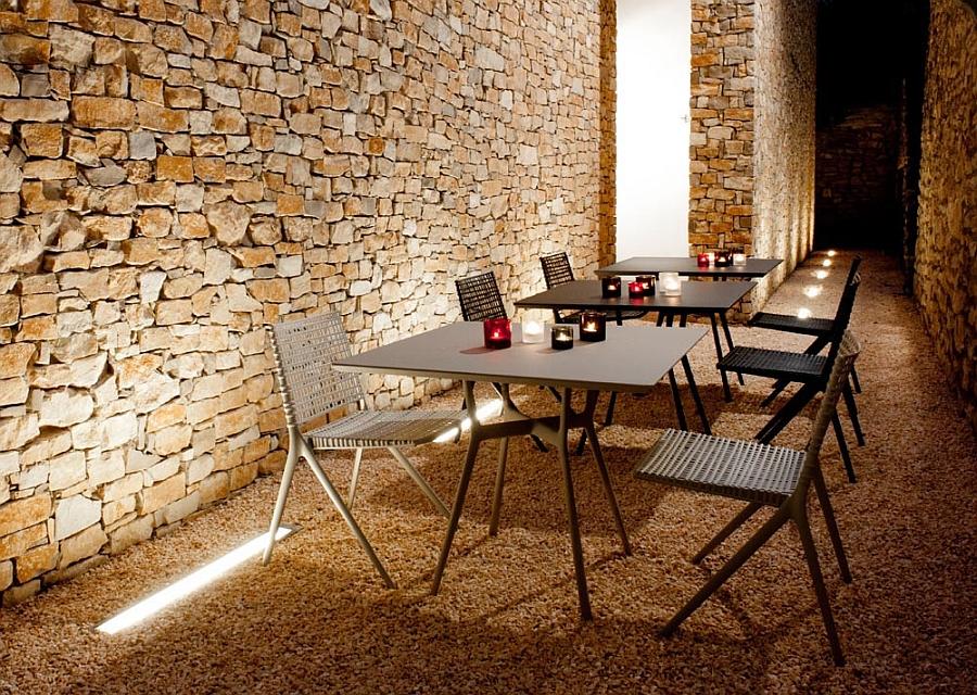 Versatile and sleek outdoor metal tables