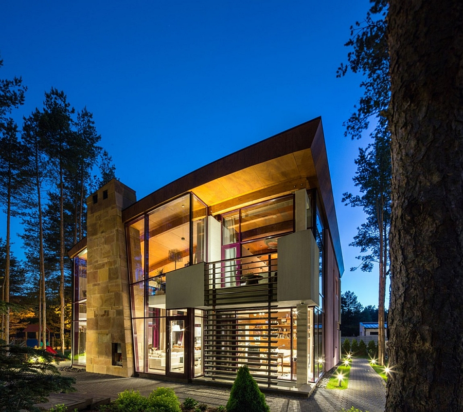 View in gallery Warm lighting and contemporary architecture enhance the appeal of Villa Estebania & Artistic Elegance Meets Architectural Beauty At Exclusive Villa ... azcodes.com