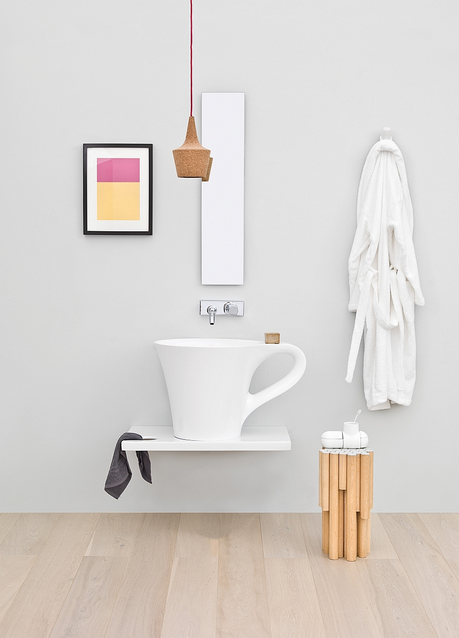 Washbasin Cup gives your small bathroom a playful twist