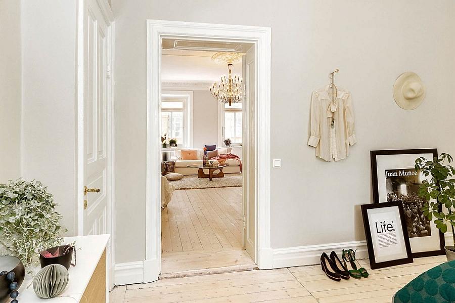 Wonderful use of light grey walls for a stylish Scandinavian home