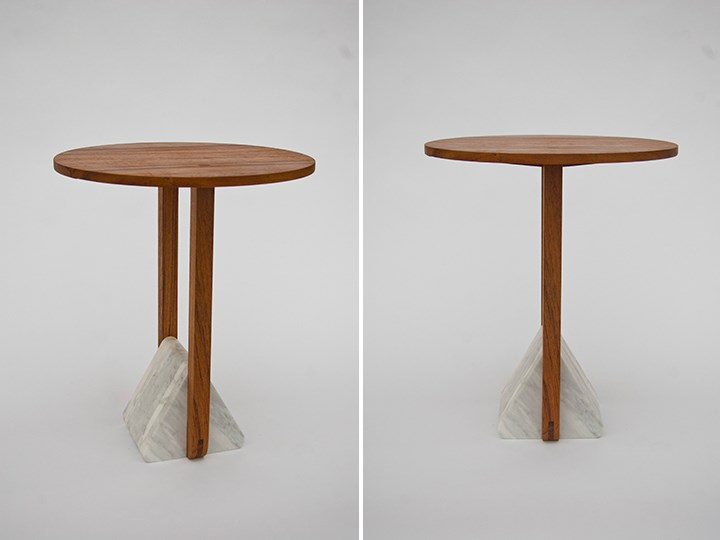Wood and marble tables from Fort Standard