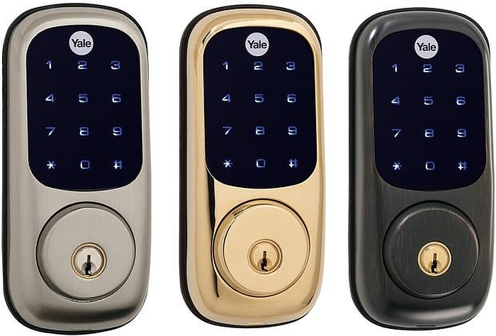 Yale's Touchscreen Deadbolt comes in a variety of finishes