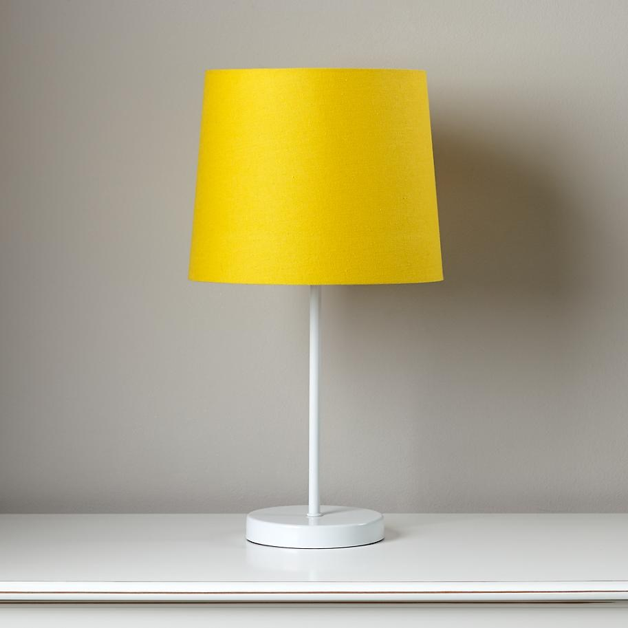 Yellow and white table lamp