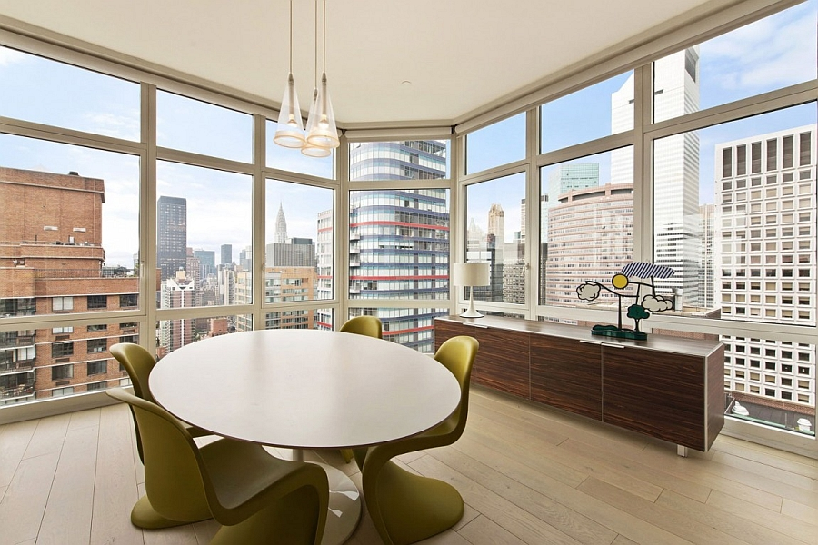 A dining room with spectacular views all around!