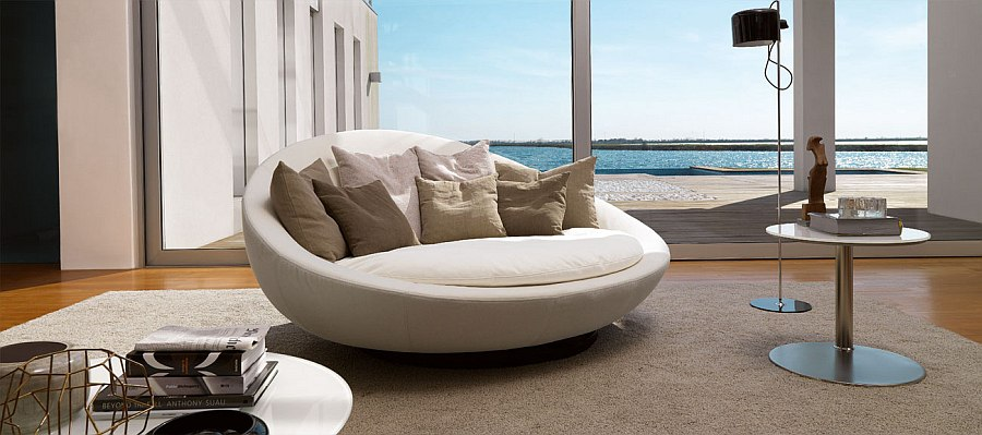 A modern version of the classic loveseat by Desiree