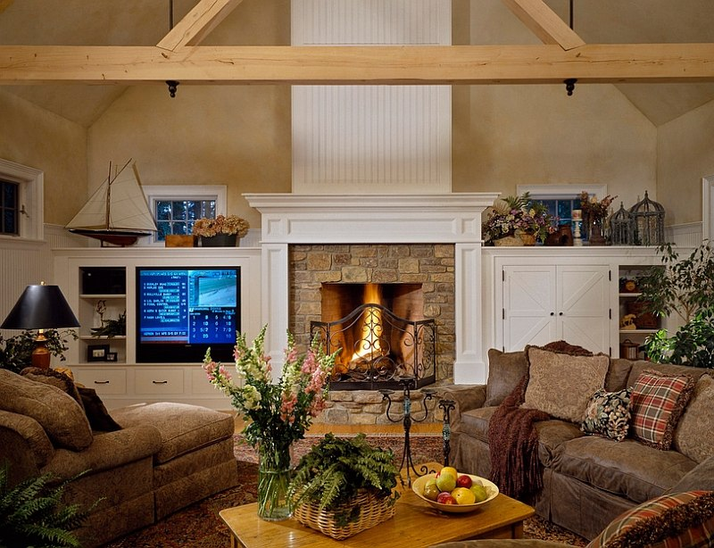 ... A Perfect Living Room For The Chilly Winters Ahead [Design: Witt  Construction]