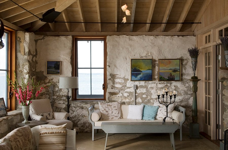 30 rustic living room ideas for a cozy organic home - Rustic chic living room ...