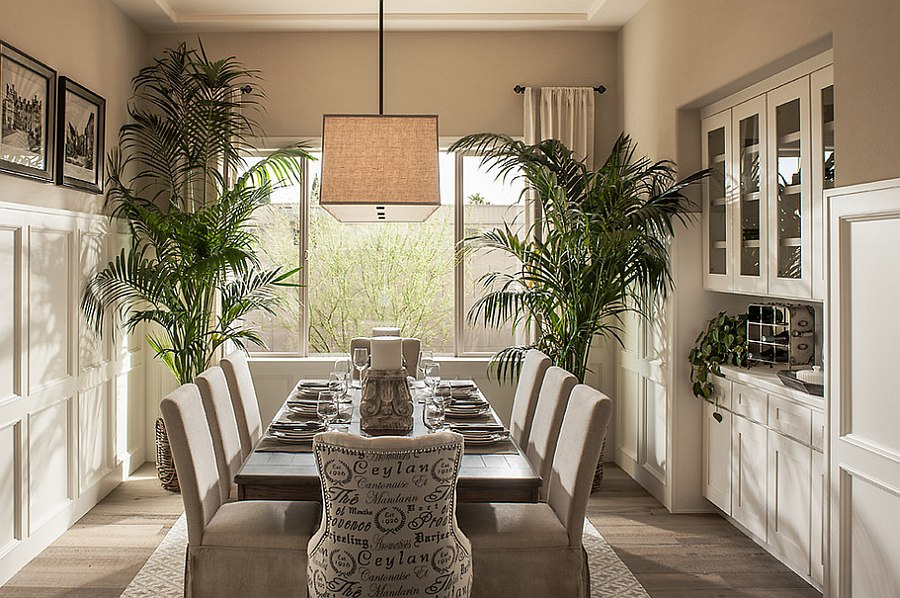 View In Gallery Add Some Greenery To The Dining Room [Design: Camelot Homes]
