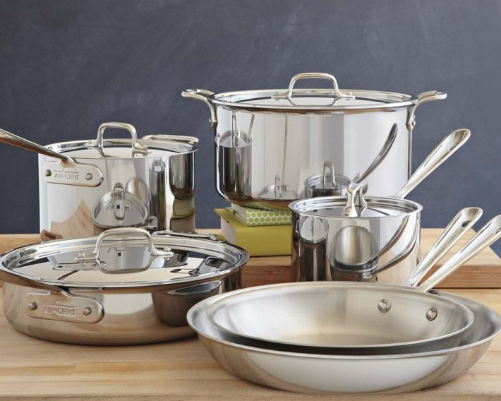 All Clad stainless steel cookware How To Display Stainless Steel Pots