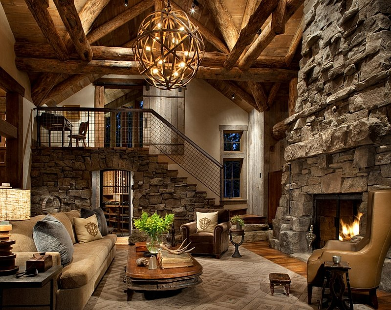 30 rustic living room ideas for a cozy organic home for Gorgeous living rooms