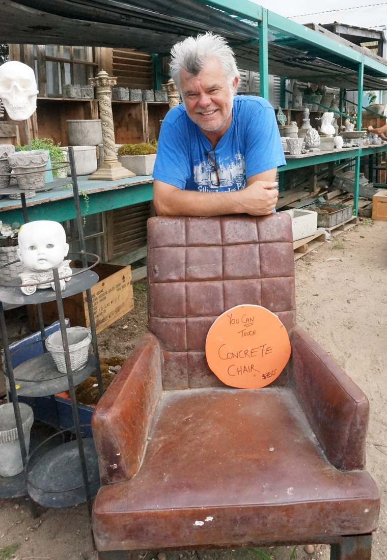 Artist Richard Taylor and his concrete chair-001