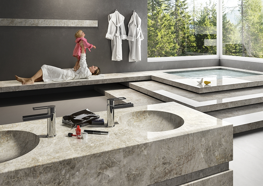 Bacteria resistant natural stone surfaces from Antolini for the contemporary home