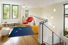 Bamboo flooring in a kids' play area