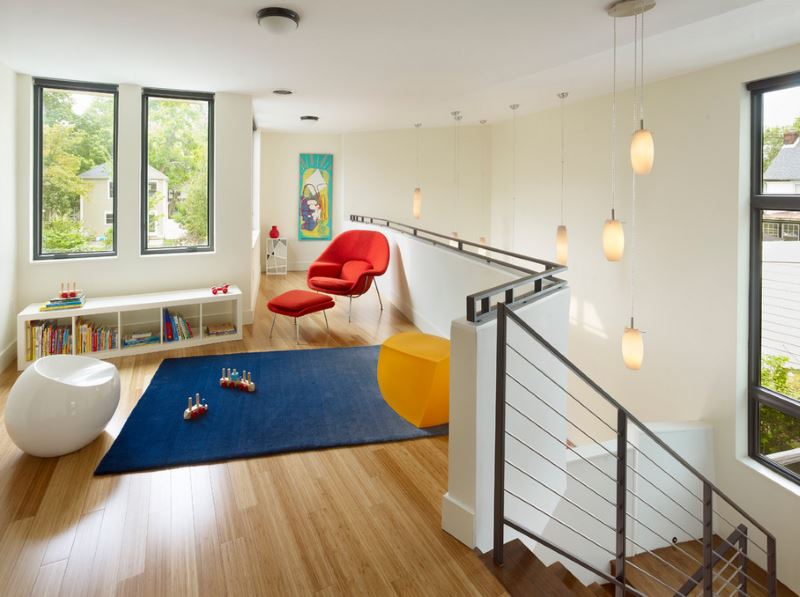 Bamboo flooring in a kids play area Eco Friendly Flooring Options for Modern Spaces