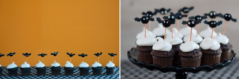Bat cupcake toppers from Oh Happy Day