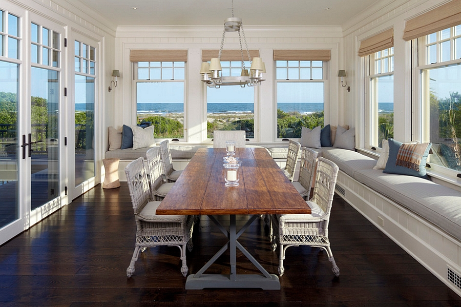 Beach Style dining room with ample relaxation space [From: Anderson Studio of Architecture & Design]