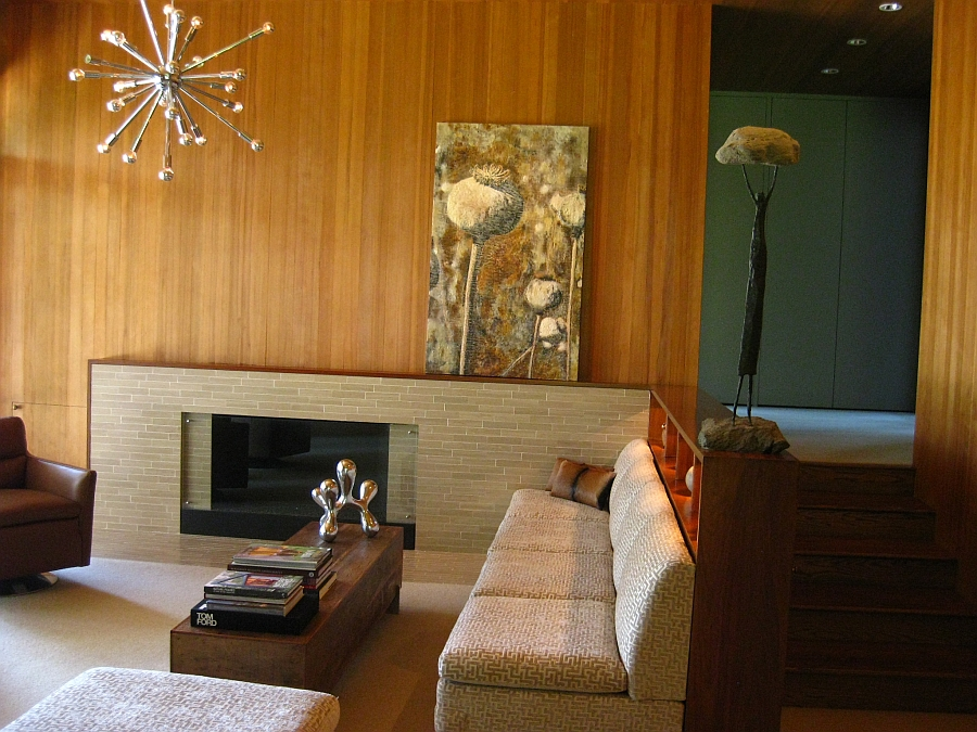 Beautiful art work lends elegance to the cozy living space