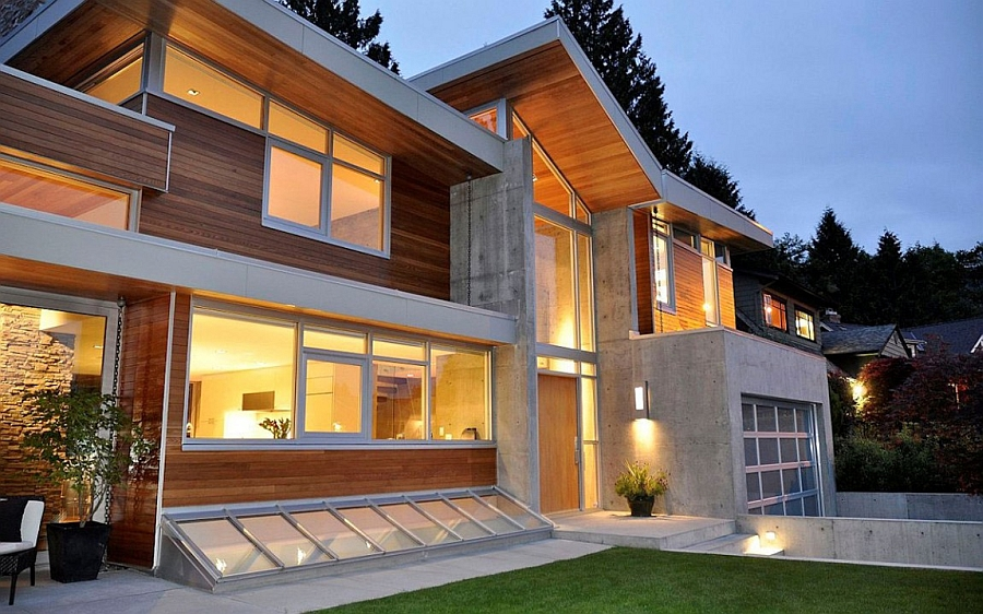 Beautiful facade of the Forest House in Vancouver, Canada