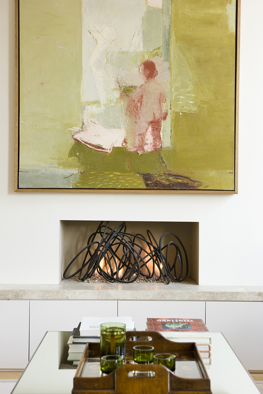 Beautiful fireplaces can be incorporated even in the smallest of spaces