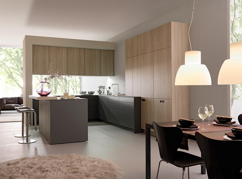 Beautiful modern kitchen from Leicht Innovative Contemporary Kitchen With Serene Style!