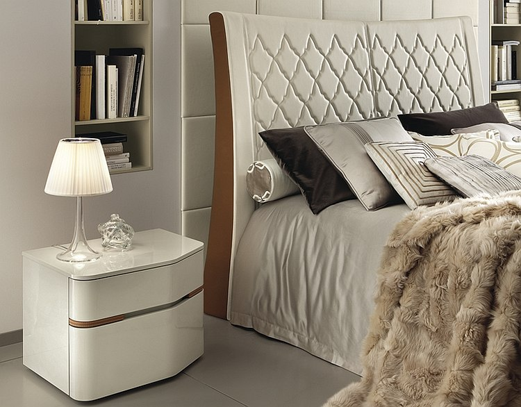 Beautiful nightstands that match the opulence of the bed