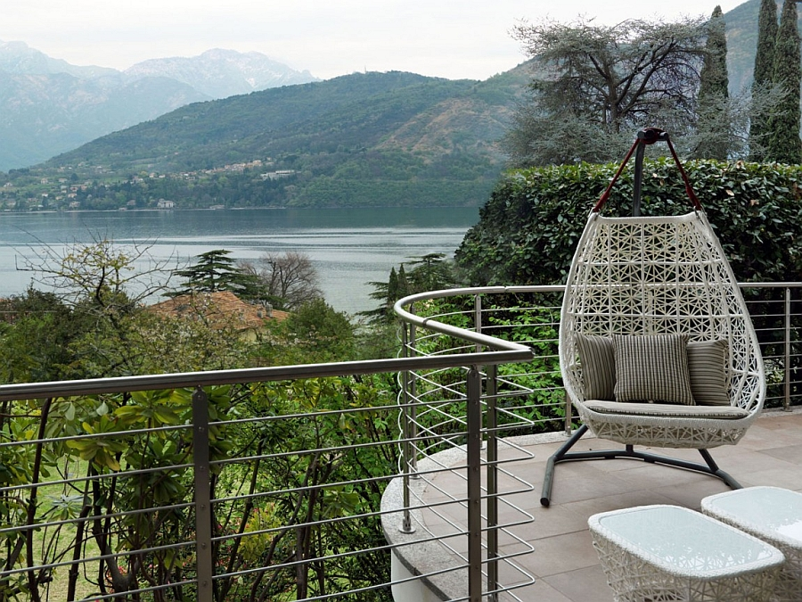 Beautiful view of Lake Como from the idyllic retreat