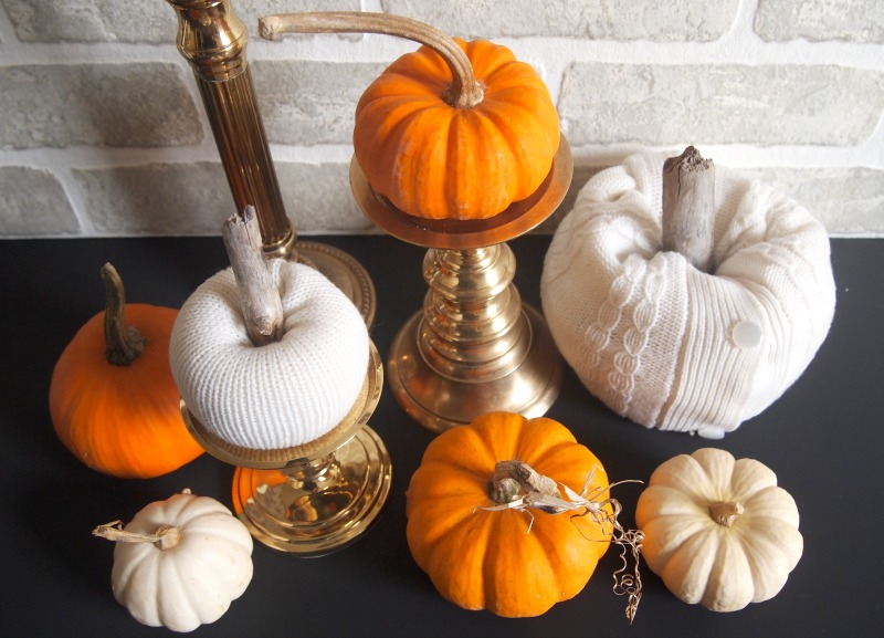 Blend your sweater pumpkins with some real ones