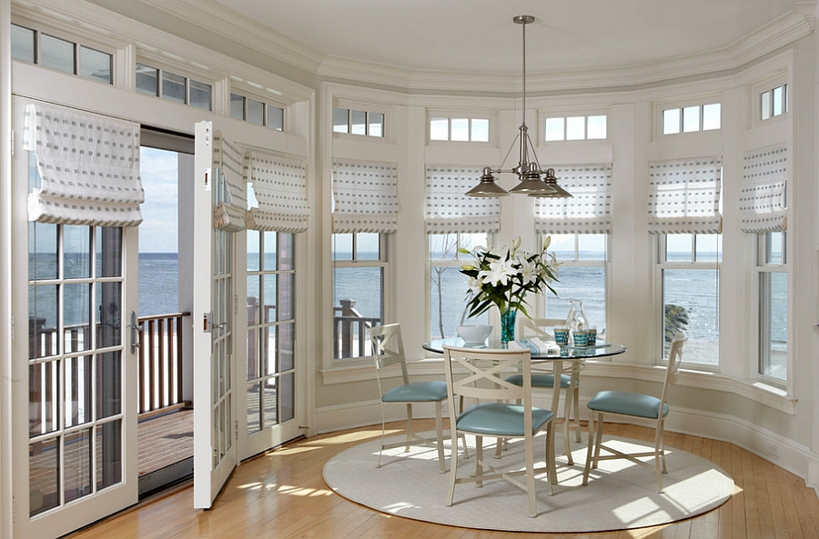 Blue and white is a natural choice for spaces with ocean view [From: Connie Cooper Designs]