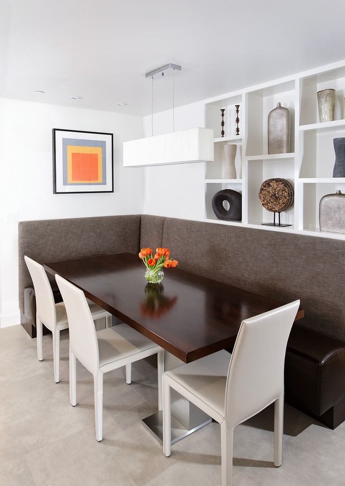 Booth styled dining room for the modern home