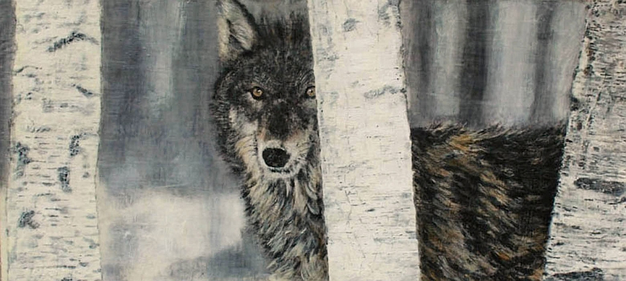 Charismatic Wolf art piece from Theresa Stirling is an absolute showstopper
