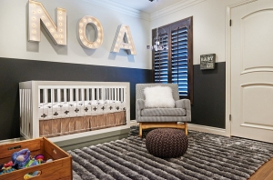Chic and bright nursery with plenty of sizzle! [Design: Lulu Designs]