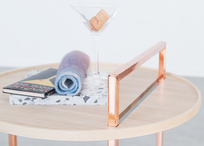 Close-up of the Orbit side table