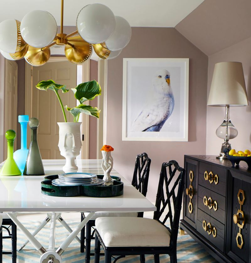 Colorful table presentation from Jonathan Adler