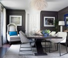 Contemporary dining room with a smart color scheme [By: Green Couch Interior Design]
