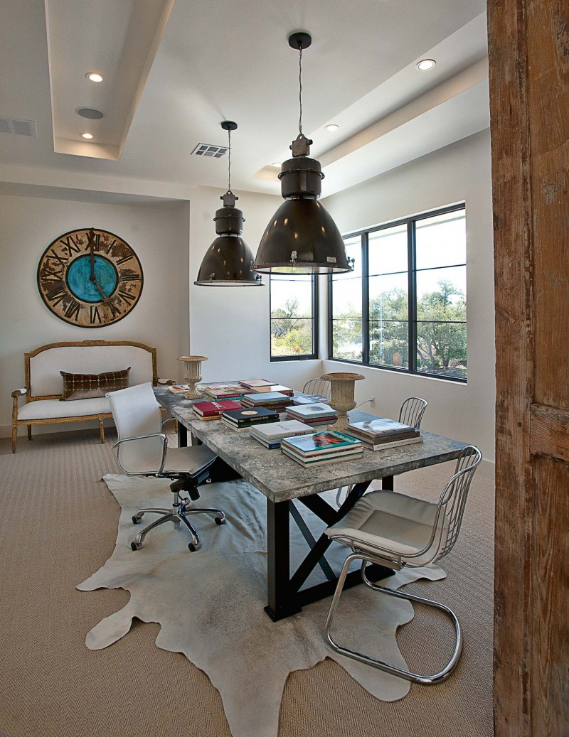 Contemporary home office with antique style