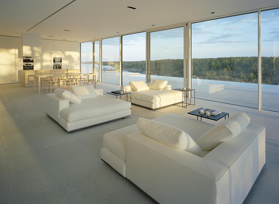 Contemporary minimal interior in white